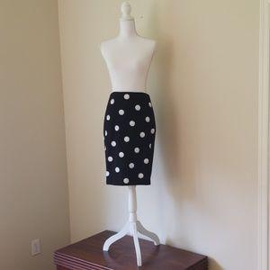 White House Black Market; White Sequin Skirt